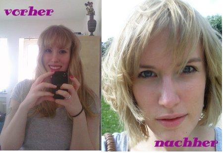 Haare ab vorher/ nachher