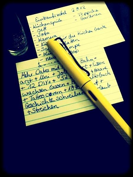 Ziele für 2012
