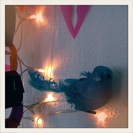 Weihnachtsschmuck Vogel blau