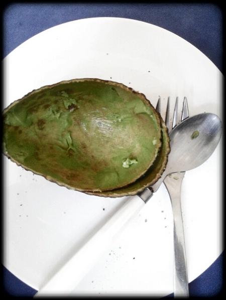 Aufgegessene Avocado