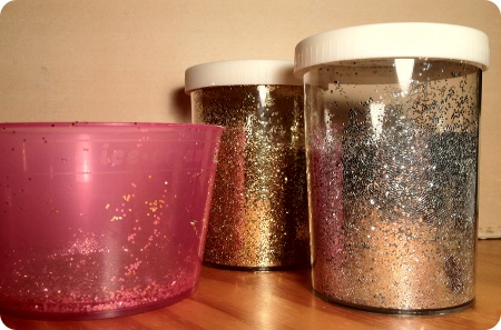 Gold und Silber Glitzer
