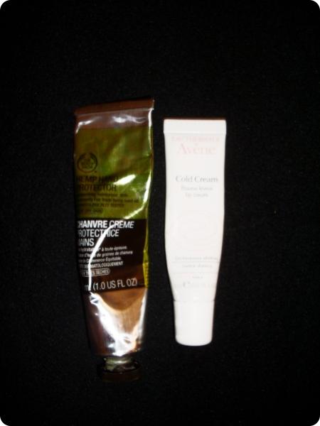 Avene Cold Cream Lippen Balsam und Hanf-Handcreme von The Body Shop