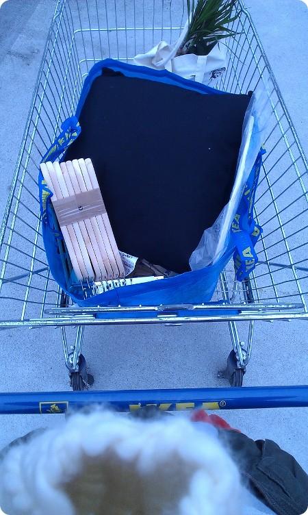 Voller EInkauswagen bei Ikea