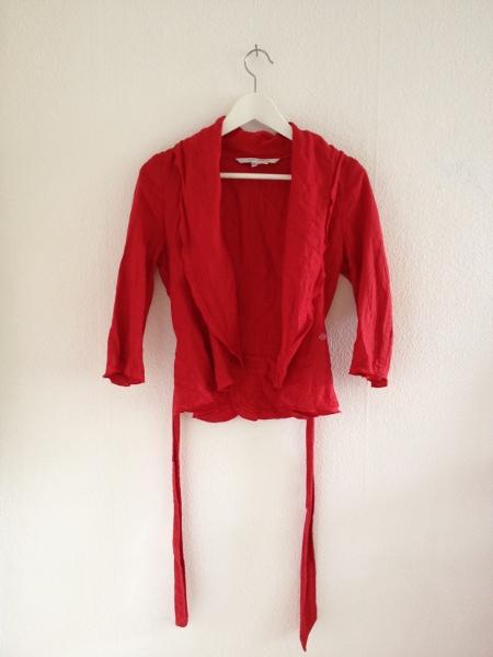 Rote Leinen Jacke