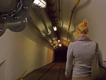 Ellen im Deutschen Bergbau-Museum in Bochum.
