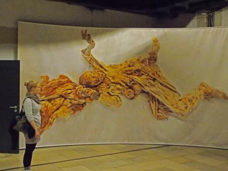Bild einer Salz-Mumie im DBM in Bochum
