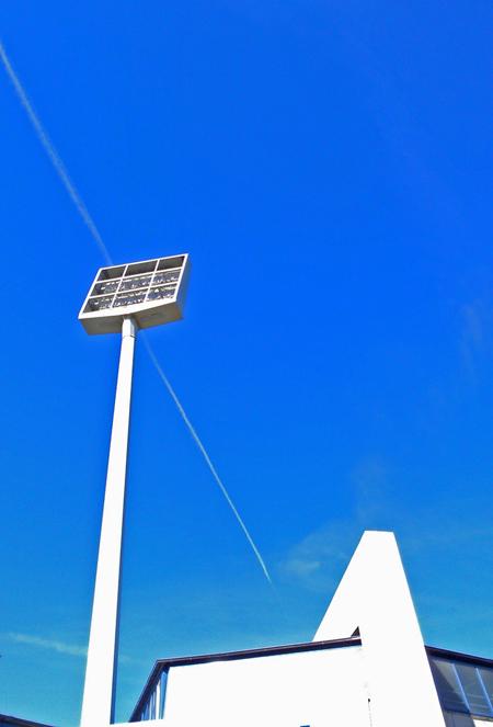 Flutlich-Mast am Ruhrstadion in Bochum