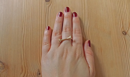 Sinlge Bone Ring von Bloody Mary Metal