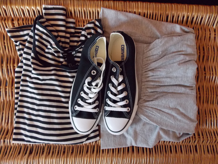 Chucks, Stripes and Maxi Skirt are my Summer Uniform