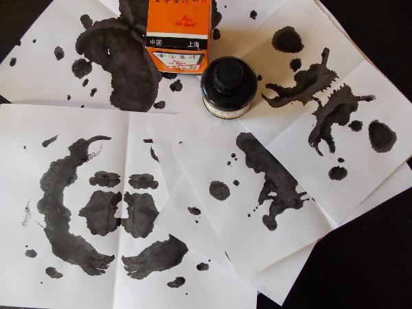 Tinten Kleckse Rohrschach