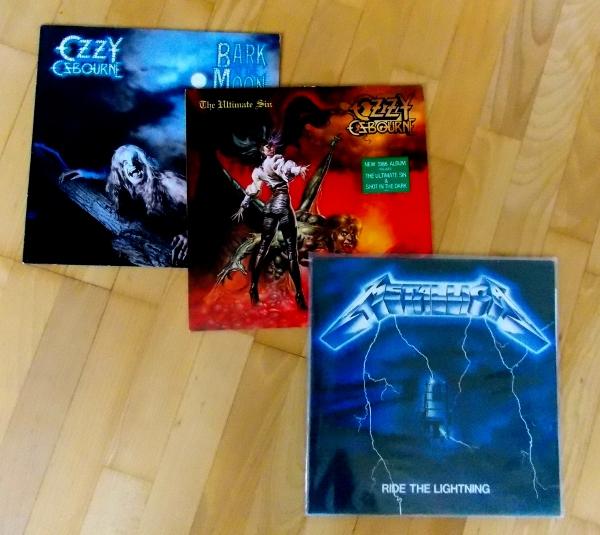 Schallplatten von Ozzy Osbourne und Metallica